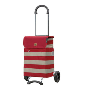 Sturdy, Sleek & Stylish Shopper Bag on Wheels (Lina Red)-Nook & Cranny Gift Store-2019 National Gift Store Of The Year-Ireland-Gift Shop