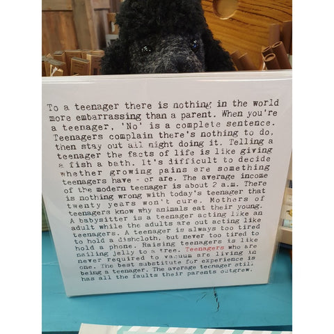 Teenager Wise Words - Mounted Print-Nook & Cranny Gift Store-2019 National Gift Store Of The Year-Ireland-Gift Shop