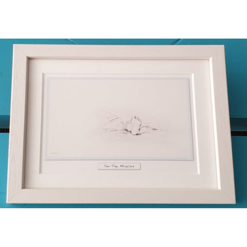 'Ten Tiny Miracles' - Blue Framed Irish Art Print-Nook & Cranny Gift Store-2019 National Gift Store Of The Year-Ireland-Gift Shop