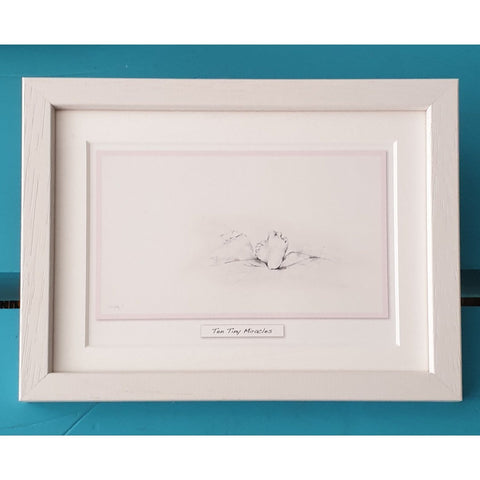 'Ten Tiny Miracles' - Pink Framed Irish Art Print-Nook and Cranny - 2019 REI National Gift Store of the Year