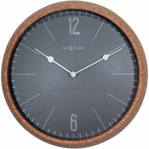 The Cork (grey) silent wall clock - 30cm-Nook and Cranny - 2019 REI National Gift Store of the Year
