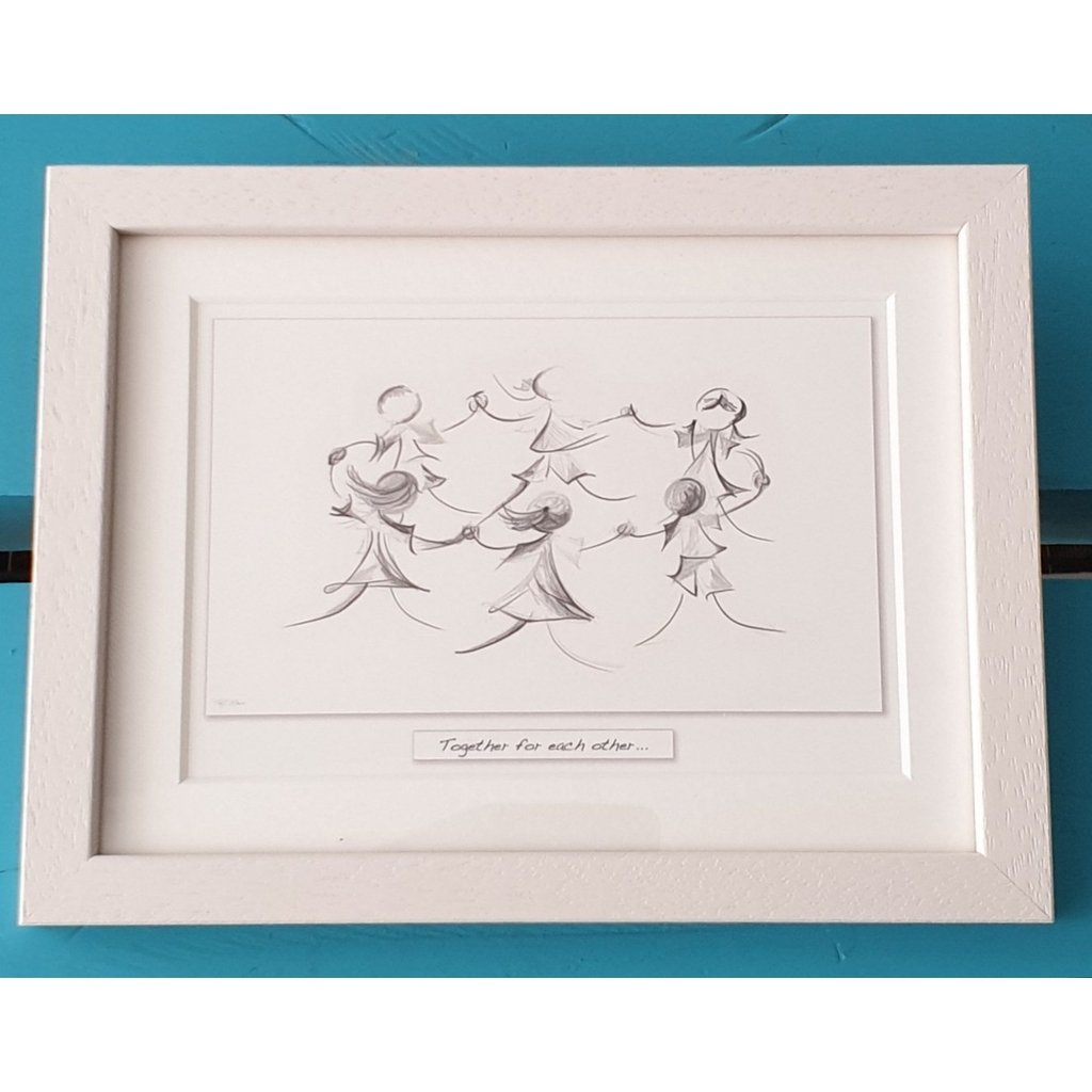 Together for each other - Framed Irish Art Print-Nook and Cranny - 2019 REI National Gift Store of the Year
