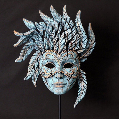 Venetian Carnivale Mask - Teal-Nook and Cranny - 2019 REI National Gift Store of the Year