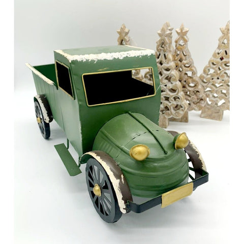 Vintage Truck Decoration - Green-Nook & Cranny Gift Store-2019 National Gift Store Of The Year-Ireland-Gift Shop