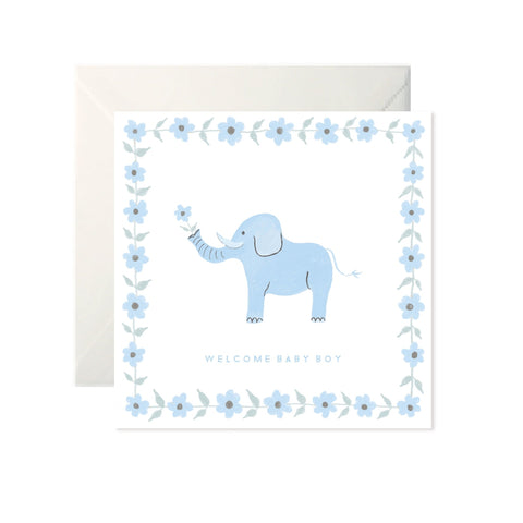 Welcome Baby Boy - Card-Nook & Cranny Gift Store-2019 National Gift Store Of The Year-Ireland-Gift Shop