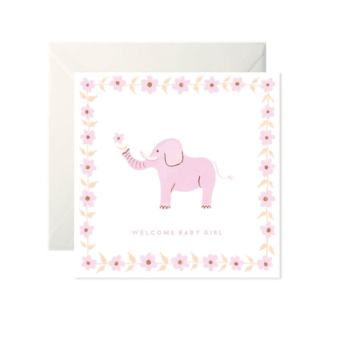 Welcome Baby Girl - Card-Nook & Cranny Gift Store-2019 National Gift Store Of The Year-Ireland-Gift Shop