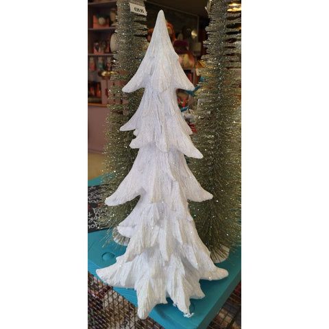 White Resin Frosted Tree-Nook & Cranny Gift Store-2019 National Gift Store Of The Year-Ireland-Gift Shop