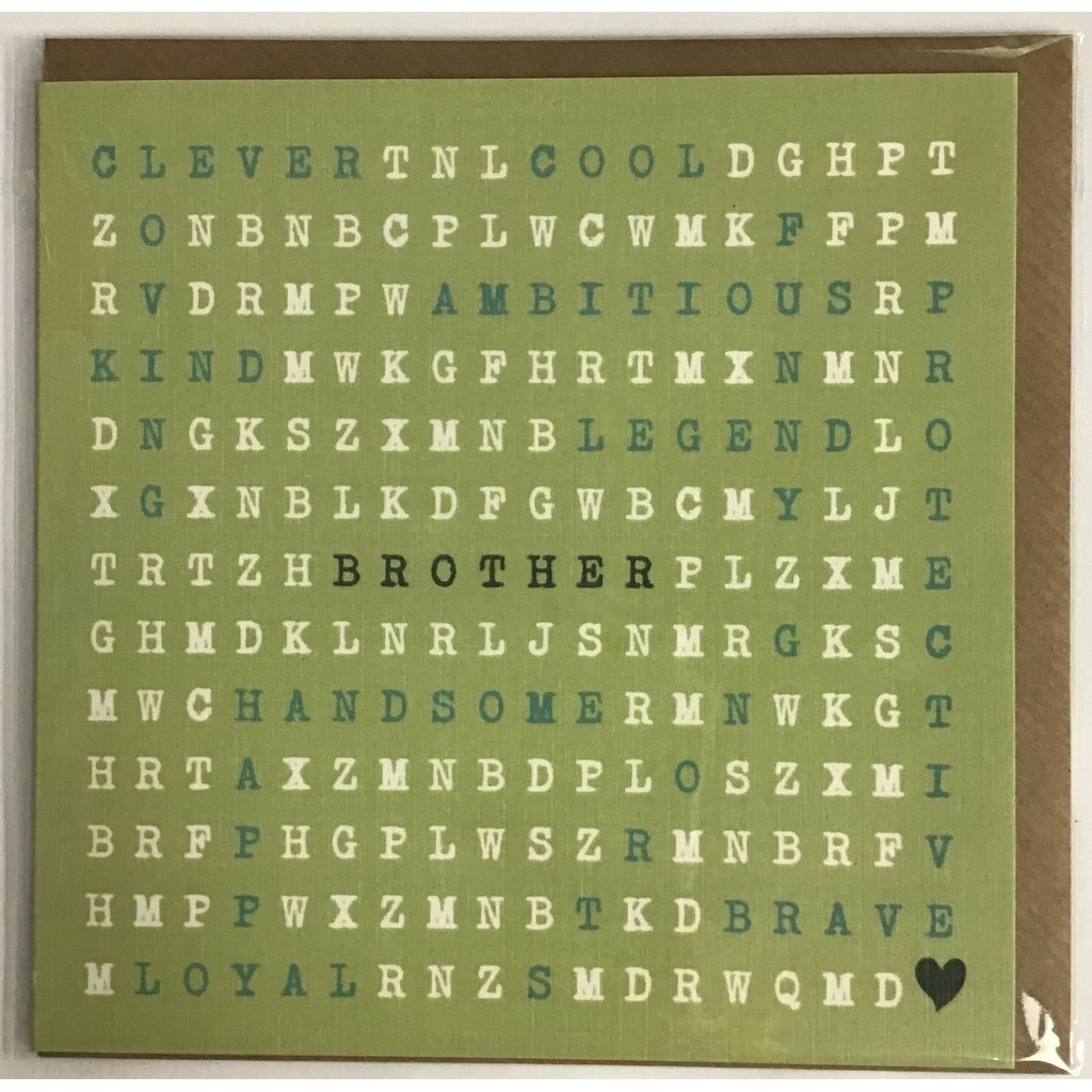 Word search - Brother card-Nook and Cranny - 2019 REI National Gift Store of the Year
