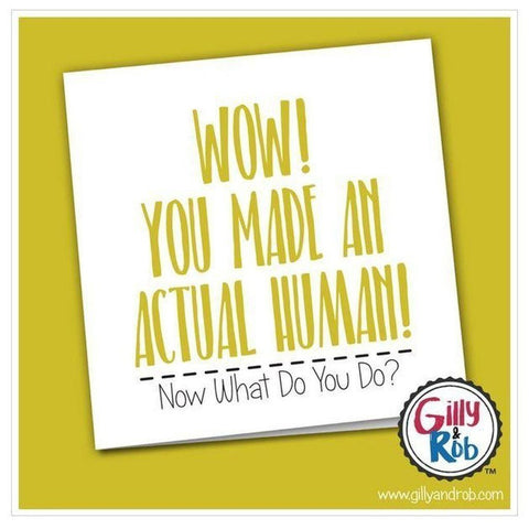 Wow You Made An Actual Human!-Nook & Cranny Gift Store-2019 National Gift Store Of The Year-Ireland-Gift Shop