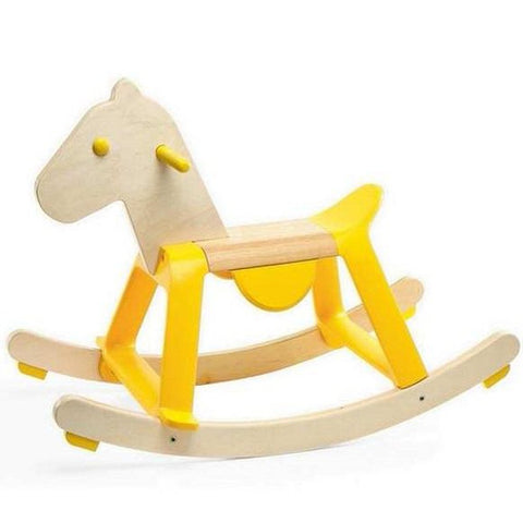 Yellow Rock'it Rocking Horse-Nook and Cranny - 2019 REI National Gift Store of the Year