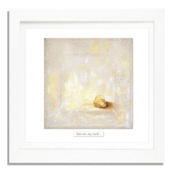 'You Are My Rock' - Framed Irish Art Print-Nook and Cranny - 2019 REI National Gift Store of the Year