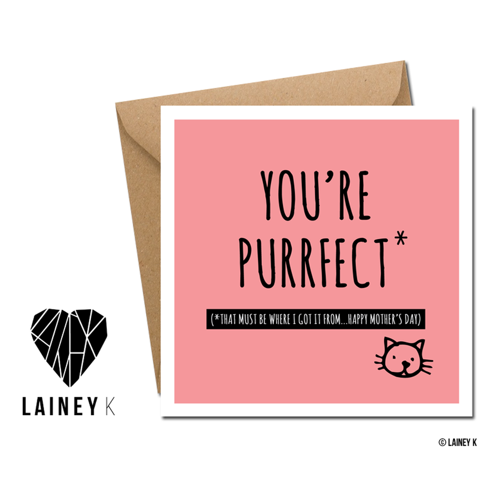 Mum you're purrfect - Card-Nook & Cranny Gift Store-2019 National Gift Store Of The Year-Ireland-Gift Shop