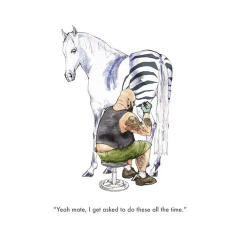 Zebra Tattoo- Card-Nook & Cranny Gift Store-2019 National Gift Store Of The Year-Ireland-Gift Shop