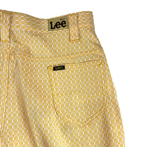 Vintage 70's Deadstock Lady Lee Yellow Patterned Pants
