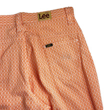 Load image into Gallery viewer, Vintage 70's Deadstock Lady Lee Orange Patterned Pants