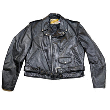 Load image into Gallery viewer, 1980's Black Schott Perfecto Leather Moto Jacket
