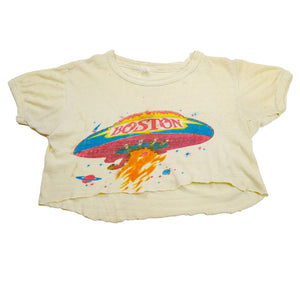 1970's Rare Original Boston Womens Cropped Band Tee