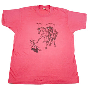 1988 It Moved! It's Gonna Git Us! Googly Eyes Horse Tee
