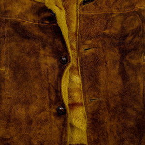 1970's Coffee Suede & Fur Lined Rancher Coat