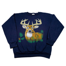 Load image into Gallery viewer, Retro Buck Animal Graphic Sweatshirt