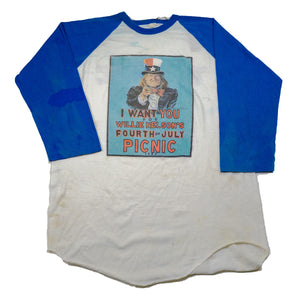 1983 I Want You For Willy Nelson's Fourth of July Picnic Baseball Tee
