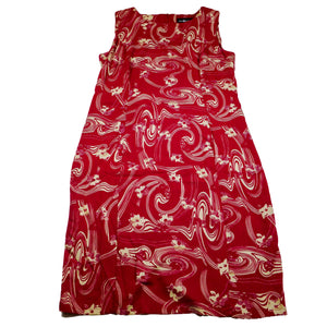Vintage Sag Harbor Petite Red Floral Dress