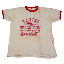 Load image into Gallery viewer, Vintage 80's Easter Beach Run Daytona Beach Florida Coca Cola Ringer Tee