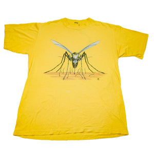 1985 Yellow Mosquito Attack Double Sided Tee
