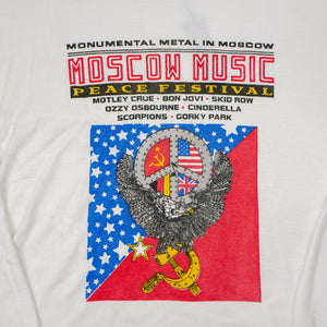 1989 Heavy Metal Moscow Music Peace Festival Metal Band Tee