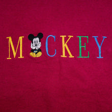Load image into Gallery viewer, Stitched Mickey Mouse Burgundy Sweatshirt