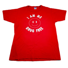 Load image into Gallery viewer, Vintage 90's I Am Me Drug Free Tee