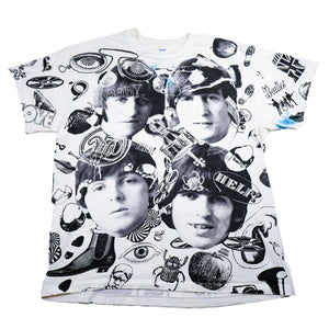 Rare! Vintage 1991 The Beatles All Over Print Tee