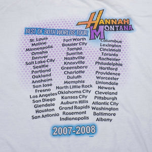 Early 2000's Hannah Montana Best of Both Worlds Tour Tee