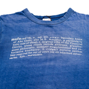 Vintage 80's 'mofo' Definition Text Tee