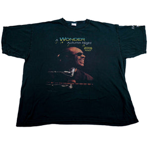 2009 Stevie Wonder A Wonder Autumn Night Brail Tour Tee