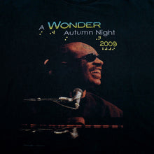 Load image into Gallery viewer, 2009 Stevie Wonder A Wonder Autumn Night Brail Tour Tee
