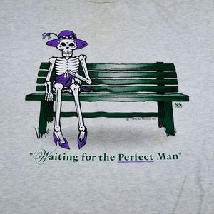 Waiting for the Perfect Man Skeleton Tee