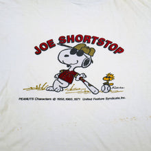 "Load image into Gallery viewer, Vintage 80's Snoopy ""Joe Shortstop"" Tee"