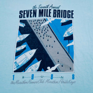Vintage 1988 Seven Mile Bridge Marathon Florida Keys Tee