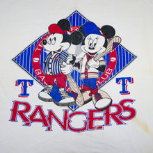 Load image into Gallery viewer, Vintage 80's Micky and Minnie Mouse Rangers Baseball Tee