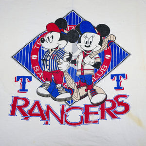 Vintage 80's Micky and Minnie Mouse Rangers Baseball Tee