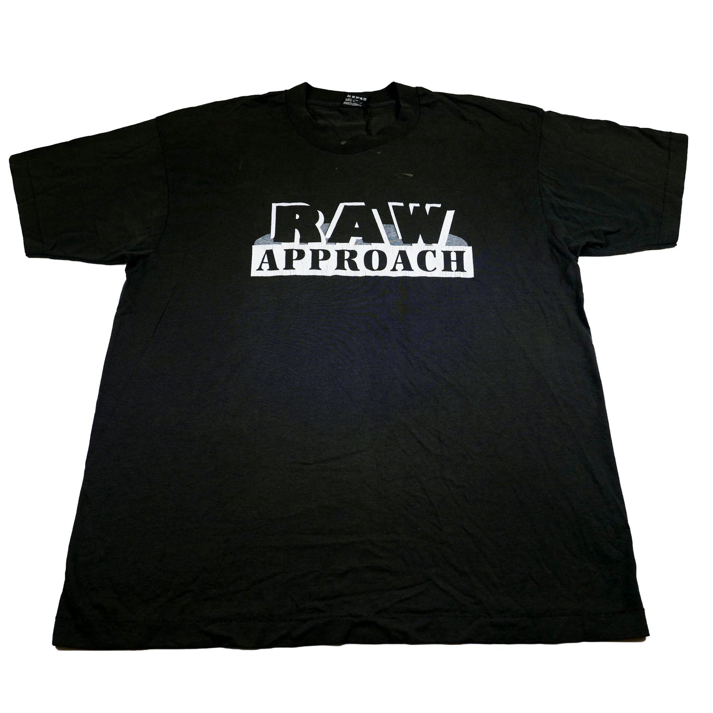 Vintage Early 90's Raw Approach Mad Flow Recordings Projects Hoodz Tee