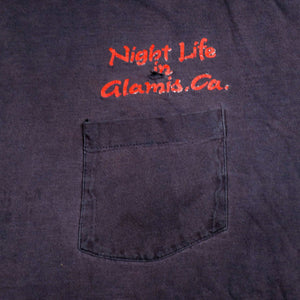 Vintage 80's Night Life in Glamis, California Pocket Tee