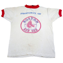 Load image into Gallery viewer, Property of Boston Red Sox Vintage Ringer Tee