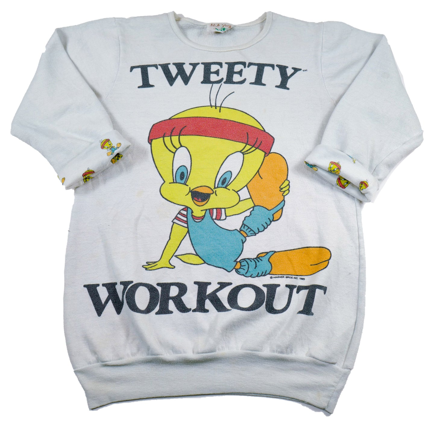 Vintage 80's Tweety Workout Sweatshirt