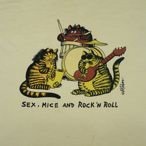 Vintage 80's Sex, Mice And Rock N' Roll Tee
