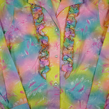 Load image into Gallery viewer, Vintage Tex Sis Pastel Colored Floral Pearl Snap Blouse