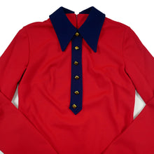 Load image into Gallery viewer, Vintage Panhandle Slim Western Red Long Sleeve Blouse