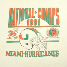 Load image into Gallery viewer, 1991 Miami Hurricanes National Champs Tee