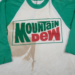 Vintage Mountain Dew Raglan 3/4 Sleeve Tee